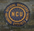 NCU enamel sign